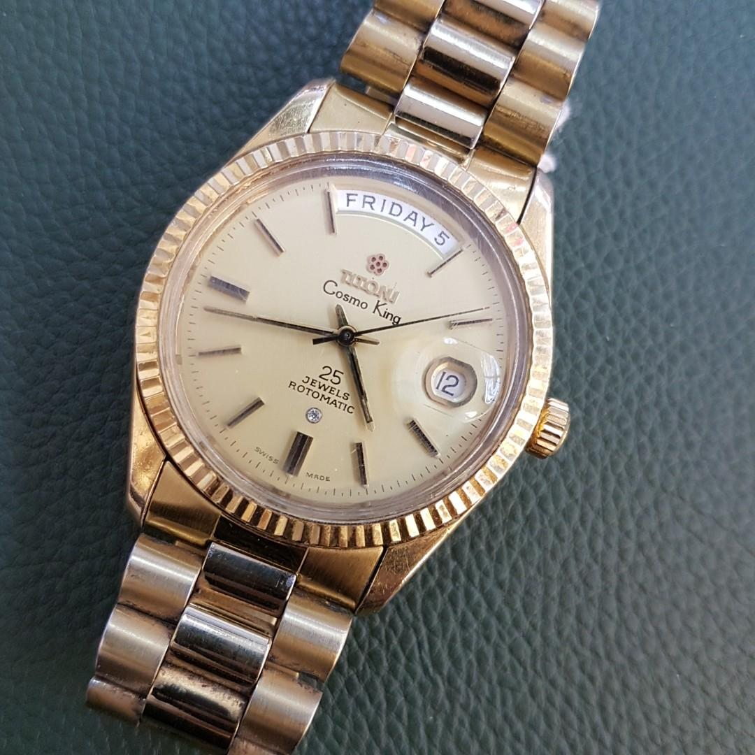 Titoni Cosmo King Day Date Vintage Watch