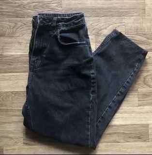 Topshop washout black mom jeans
