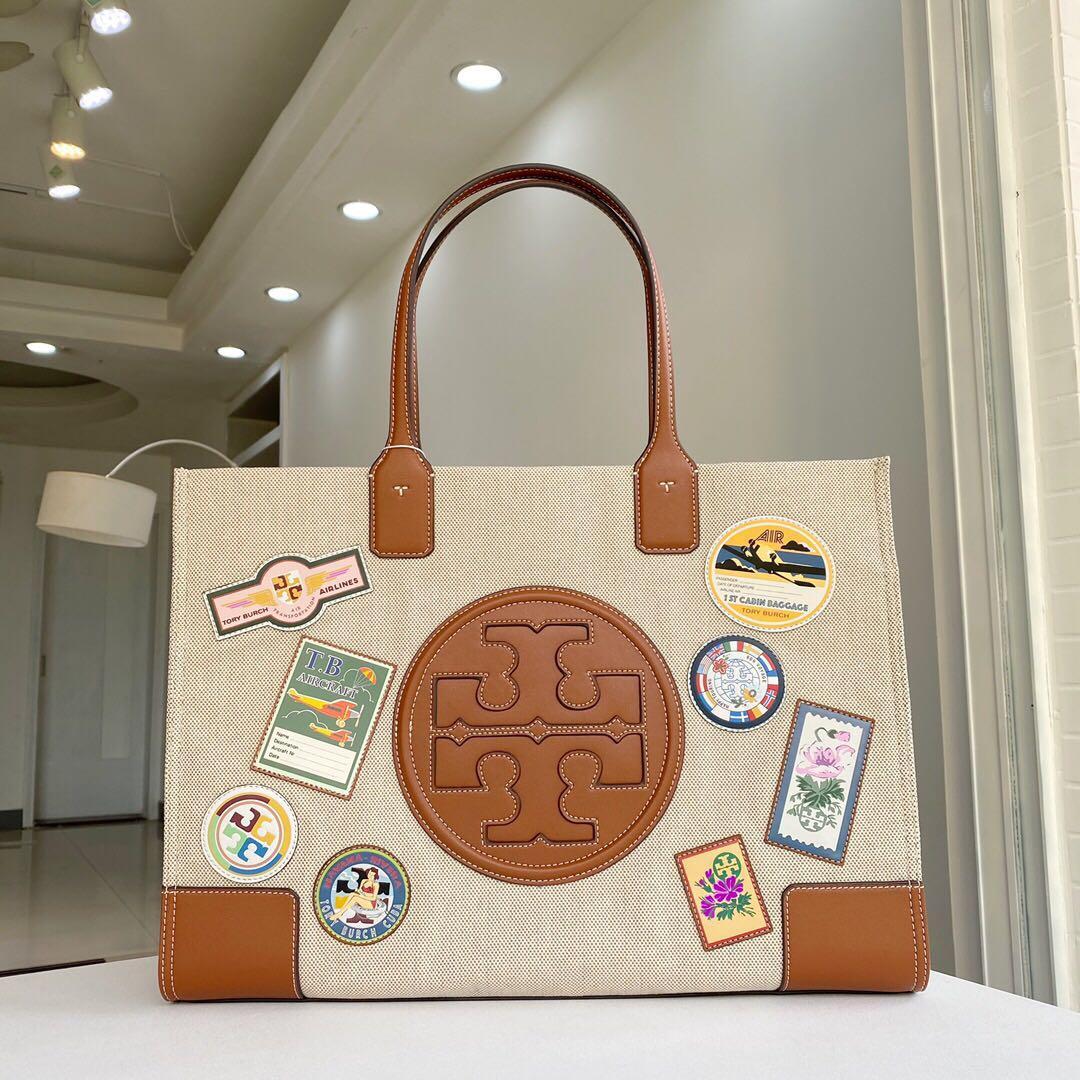 Tory Burch top-handle canvas tote bag handbag shoulderbag