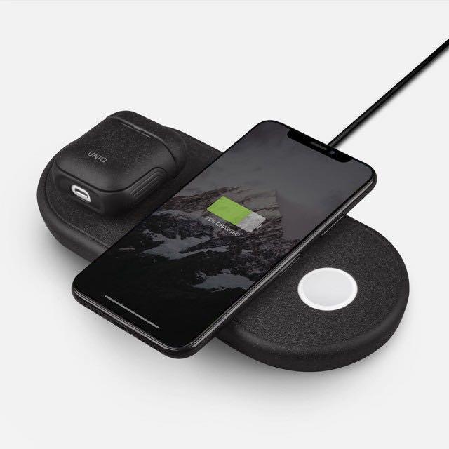 亞瑟UNIQ|Iphone/Apple whatch/Airpods三合一蘋果快速無線充電器 充電板 充電盤充電座