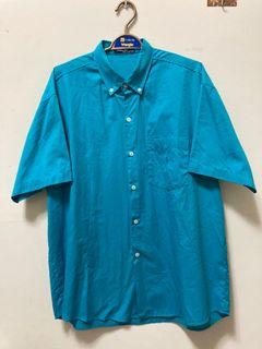 Vintage polo天空藍素面襯衫