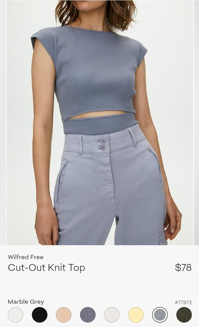 Wilfred Cut-Out Knit Top