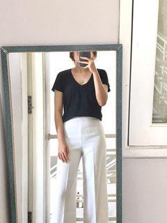 Zara Black Vneck Tshirt
