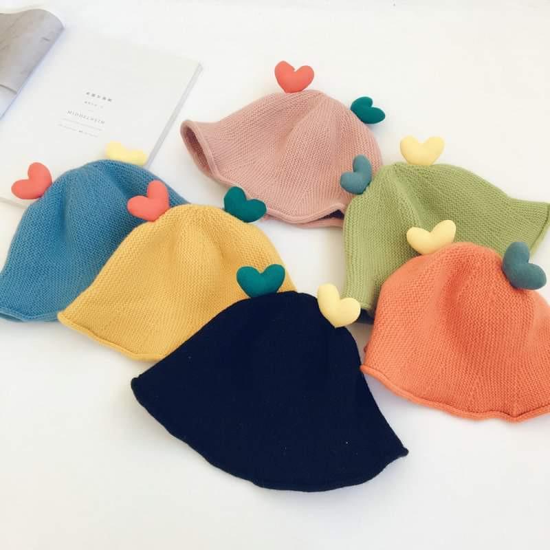 【預購】兒童立體愛心針織帽