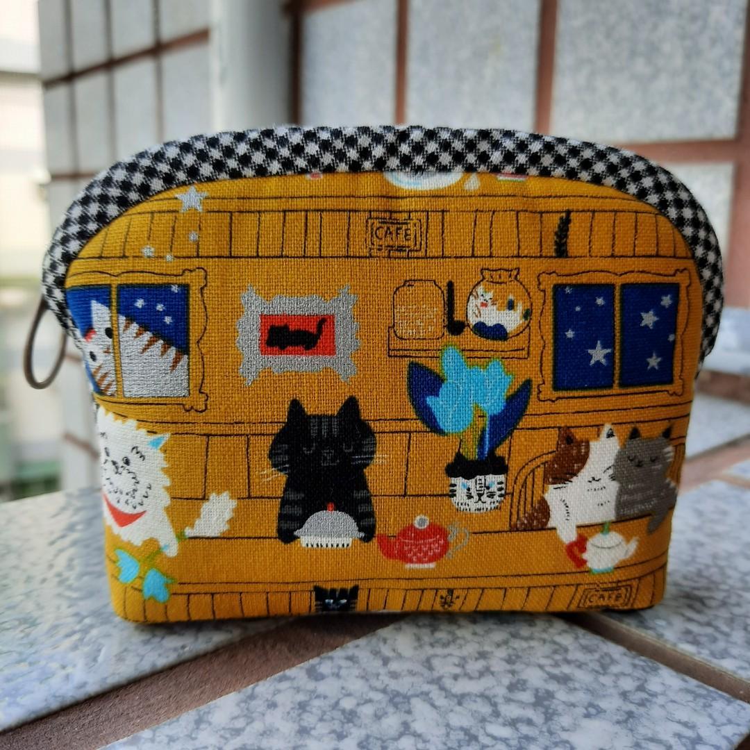 貓咪下午茶。手作零錢包/小物包