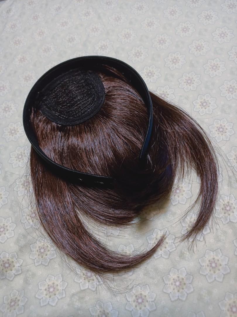 髮箍假髮片 ㄇ字瀏海 深栗棕