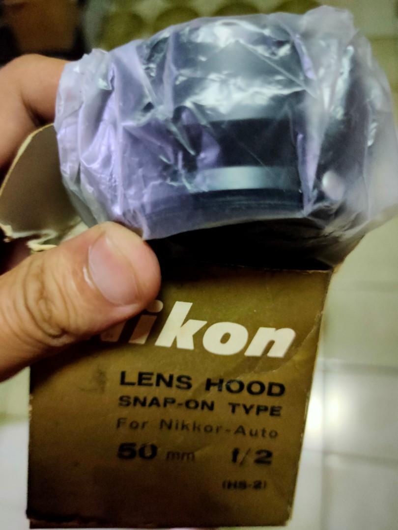 盒裝 美品 nikon Hs 3 金屬 遮光罩