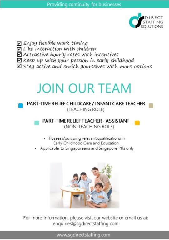 Adhoc Relief Childcare/ Infant Teachers