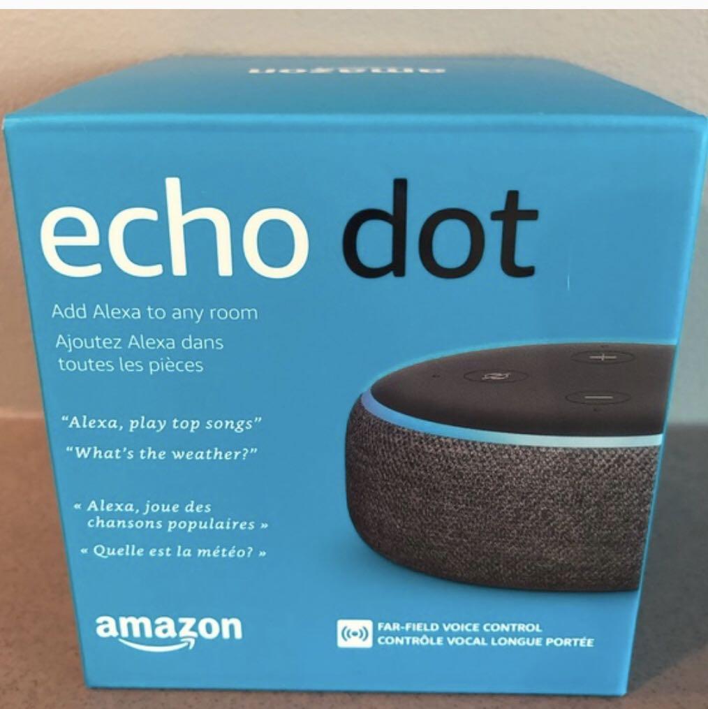 Amazon Echo Dot (3rd Gen) with Alexa - Charcoal