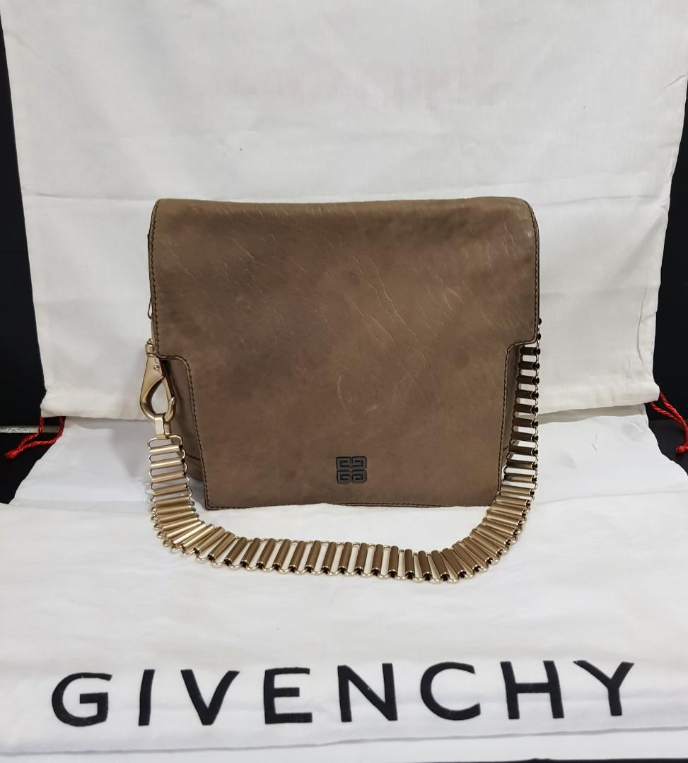 Auth Givenchy Shoulder Leather Bag