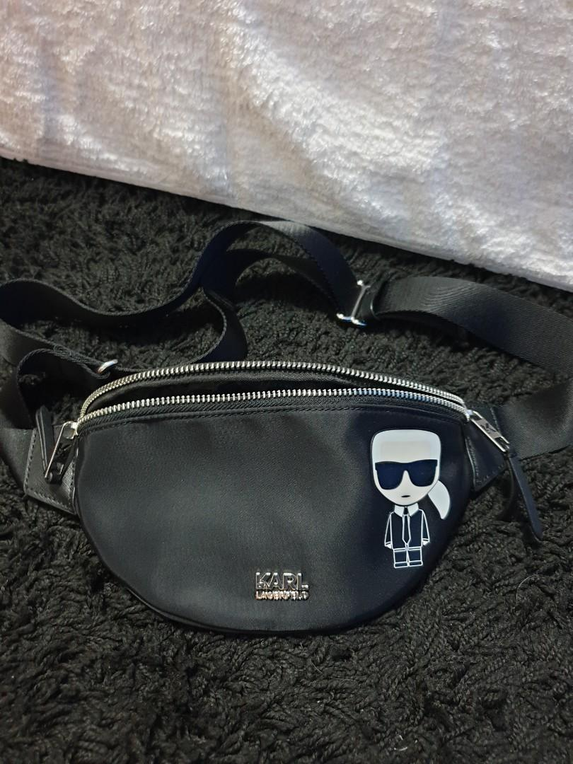 AUTH KARL LAGERFELD WAIST BAG / BUMBAG / FANNY PACK