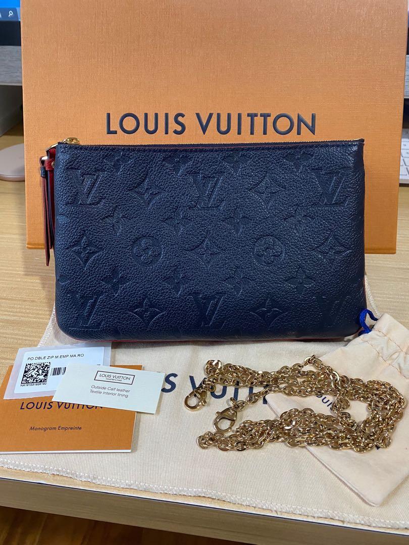 Authentic Louis Vuitton Pochette Double Zip