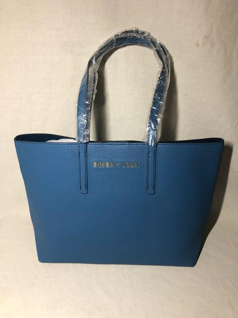Bimba Y Lola Leather Tote In Blue