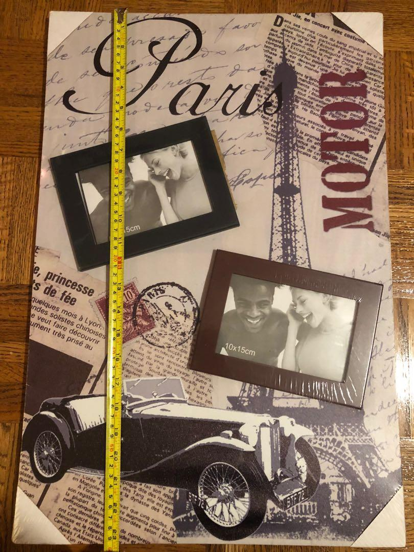 "BNIB 23.5"" X 15.5"" Paris Frame With 2 Photo Slots FIRM"