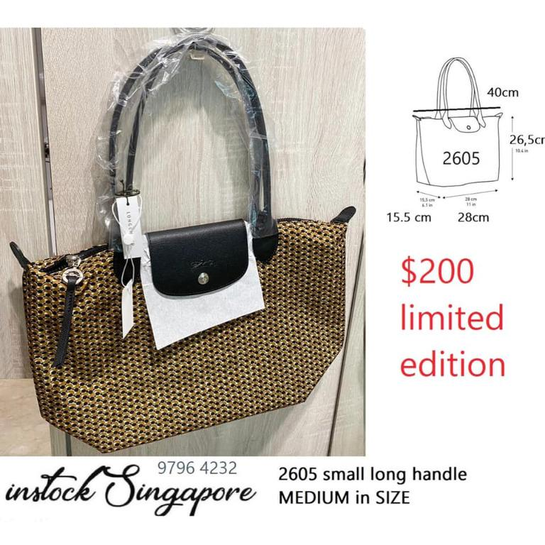 Brand New Authentic Instock Longchamp Small Long Handle With Medium size Bag 2605