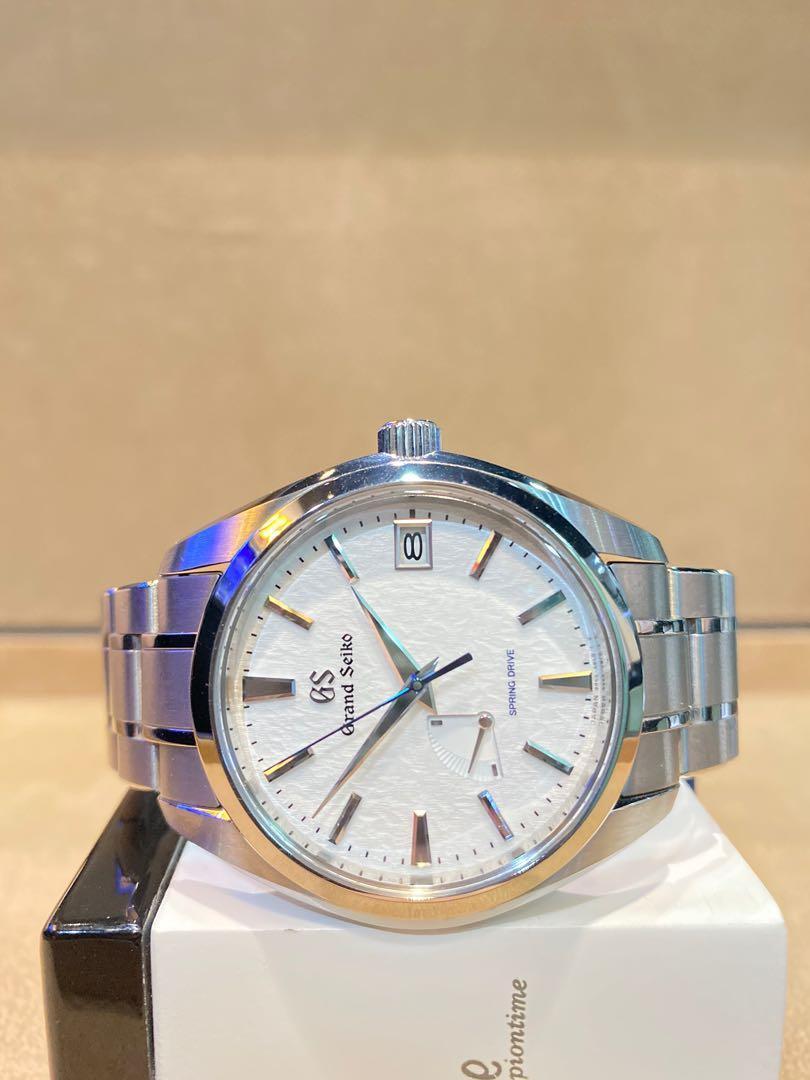 """Brand New Grand Seiko SBGA211G """"Snow Flake"""" White Dial Automatic Titanium Casing Bracelet"""