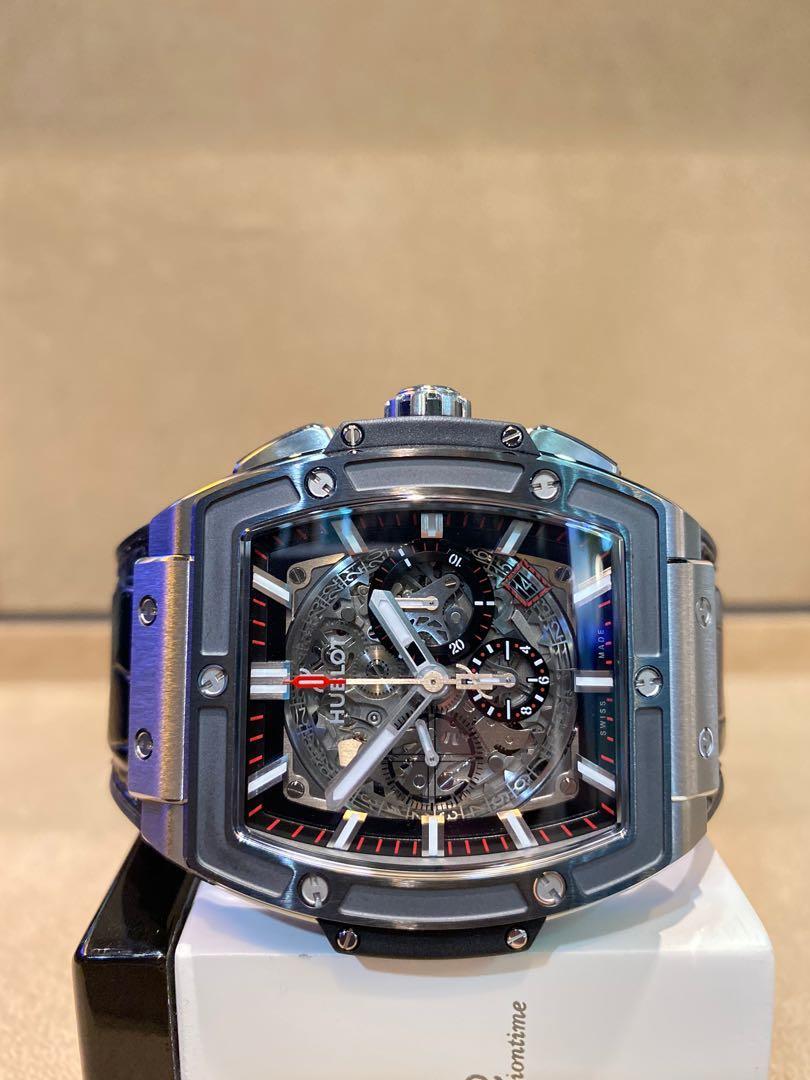 Brand New Hublot Spirit of Big Bang 601.NM.0175.LR Skeleton Dial Automatic Titanium Casing Leather