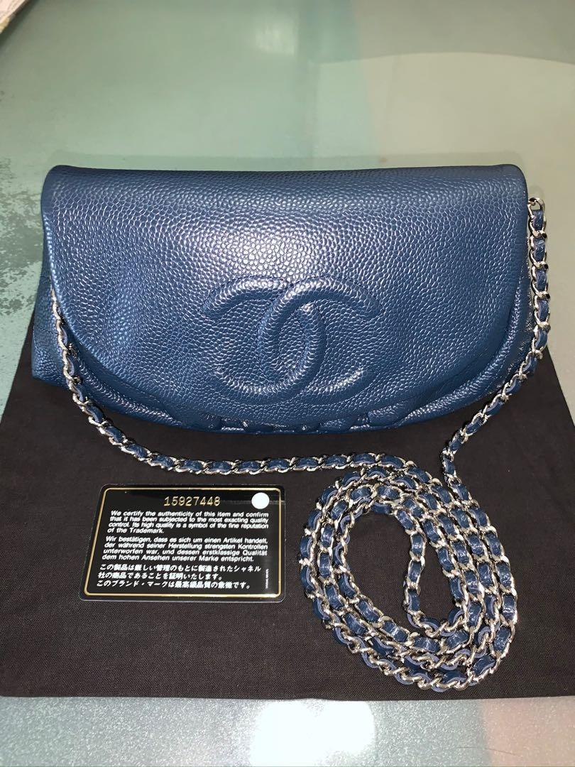 Chanel Caviar half-moon flap bag
