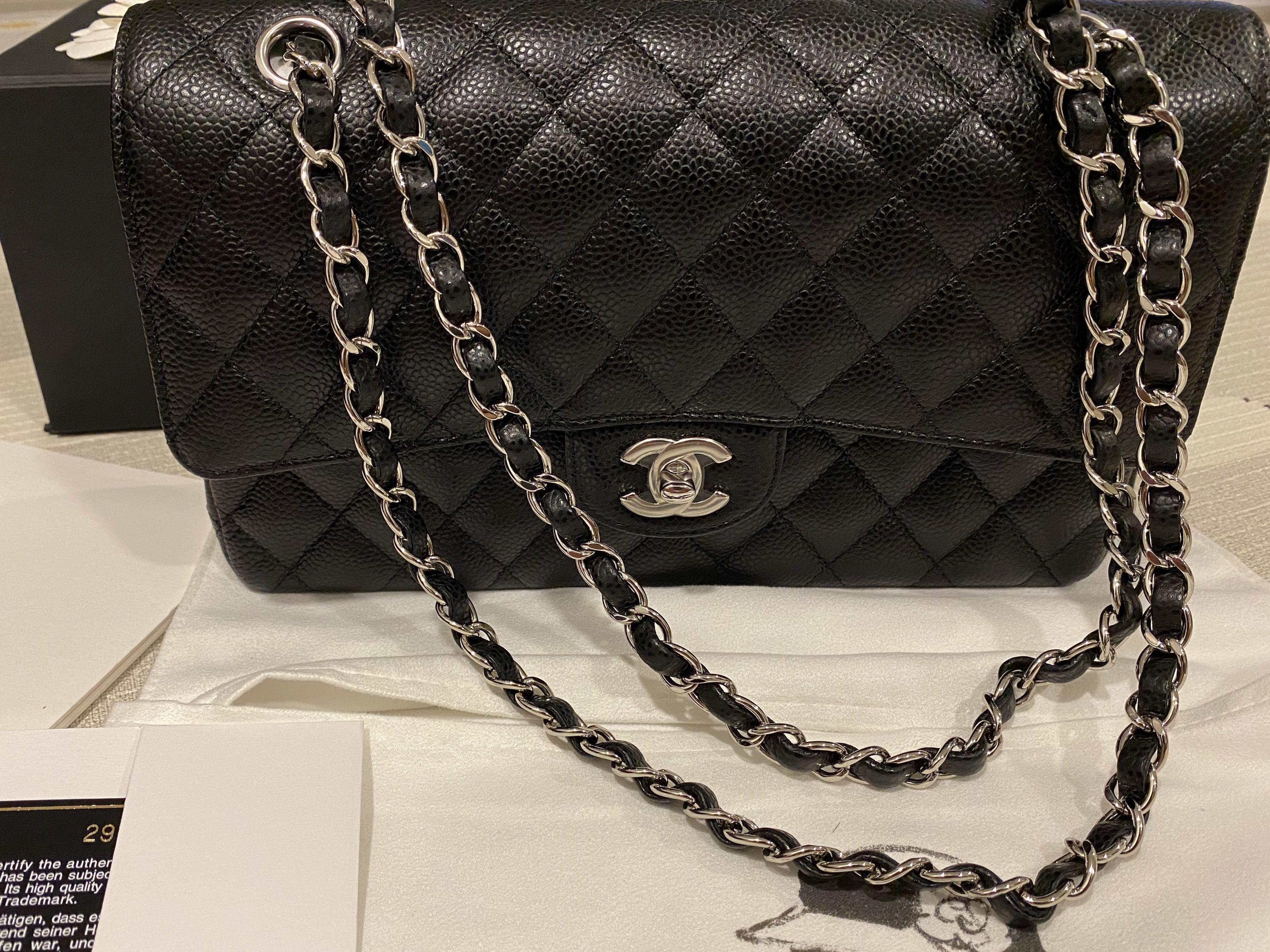 Chanel Medium Flap in SHW