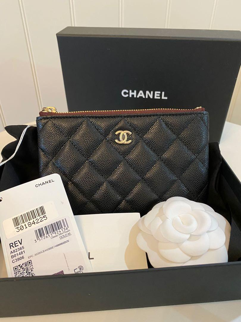 Chanel Mini O case Pouch Black Caviar with GHW