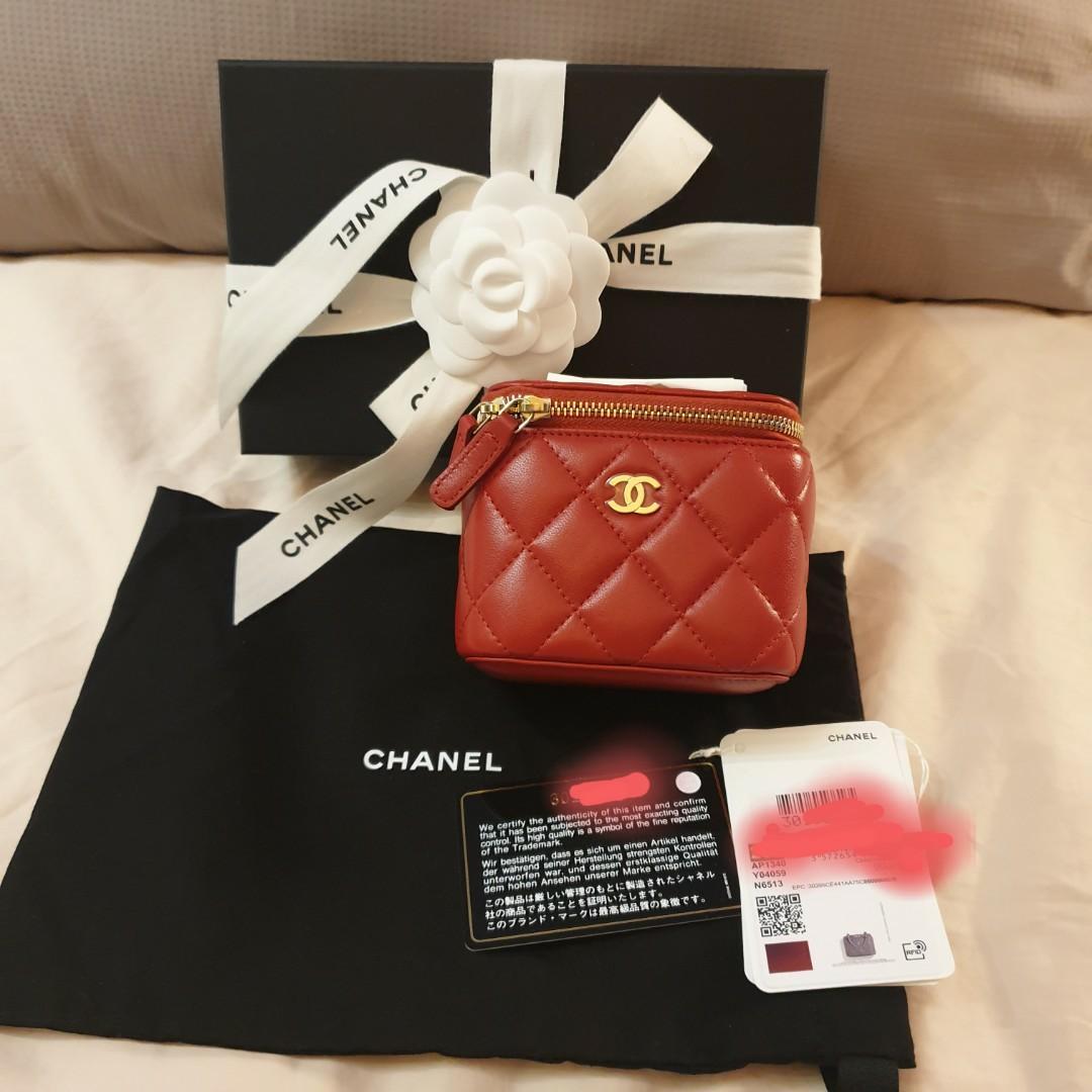 Chanel Red Vanity Mini Case Handbag Sling bag