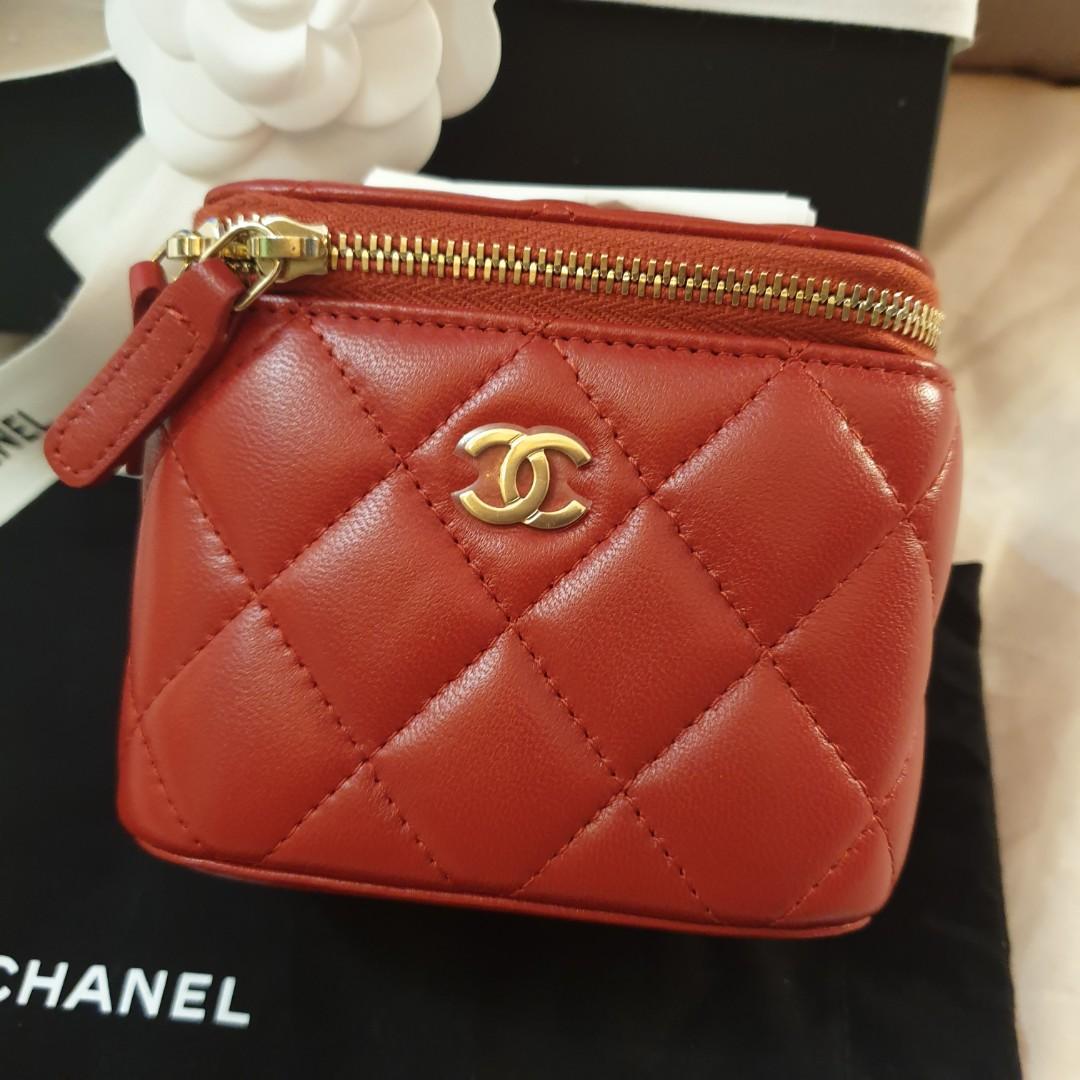 Chanel Red Mini Vanity Case Sling bag