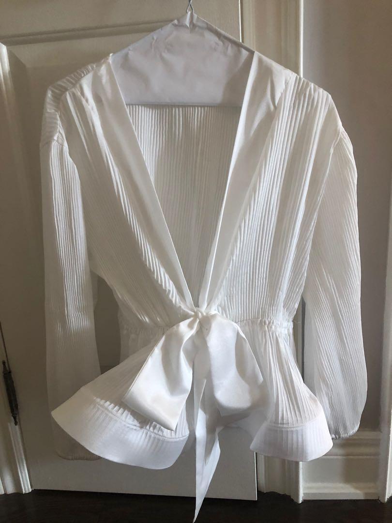 Chic peplum blouse size S