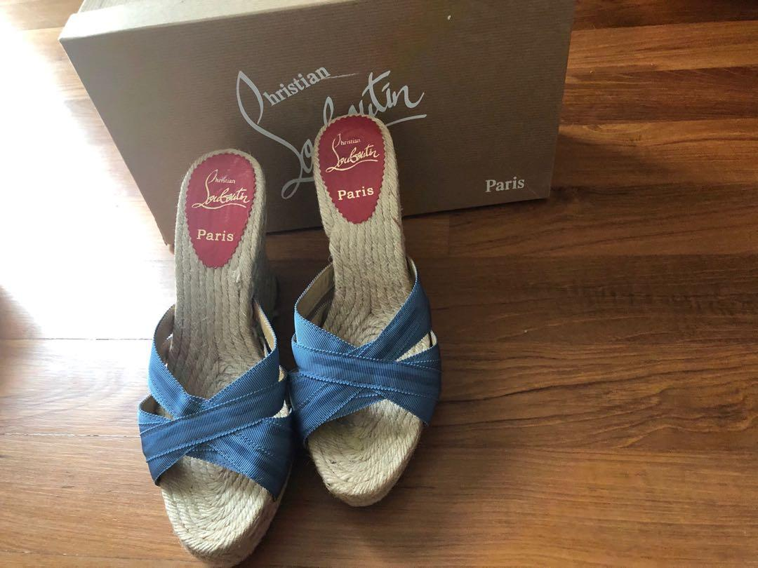 Christian Louboutin Cataribbon Wedges Heels size 39