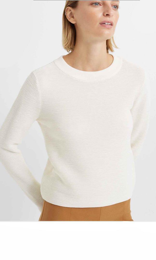 Club Monaco: Crewneck Sweater (XS-Cream)