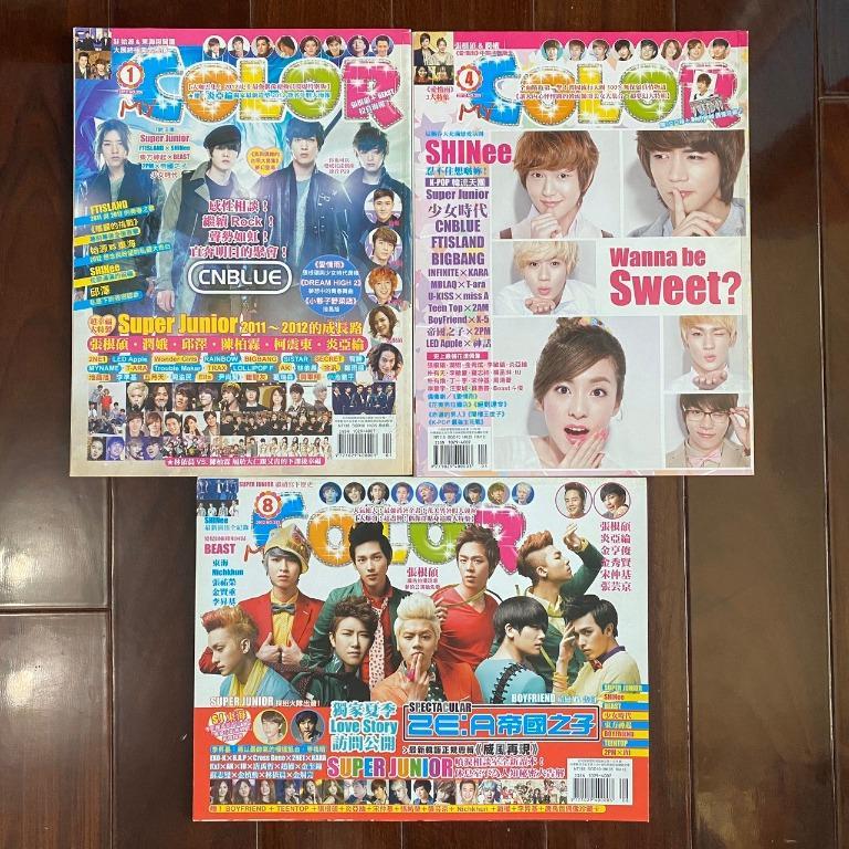 Color雜誌 2012年1月 4月 8月 CNBLUE SHINee ZE:A帝國之子