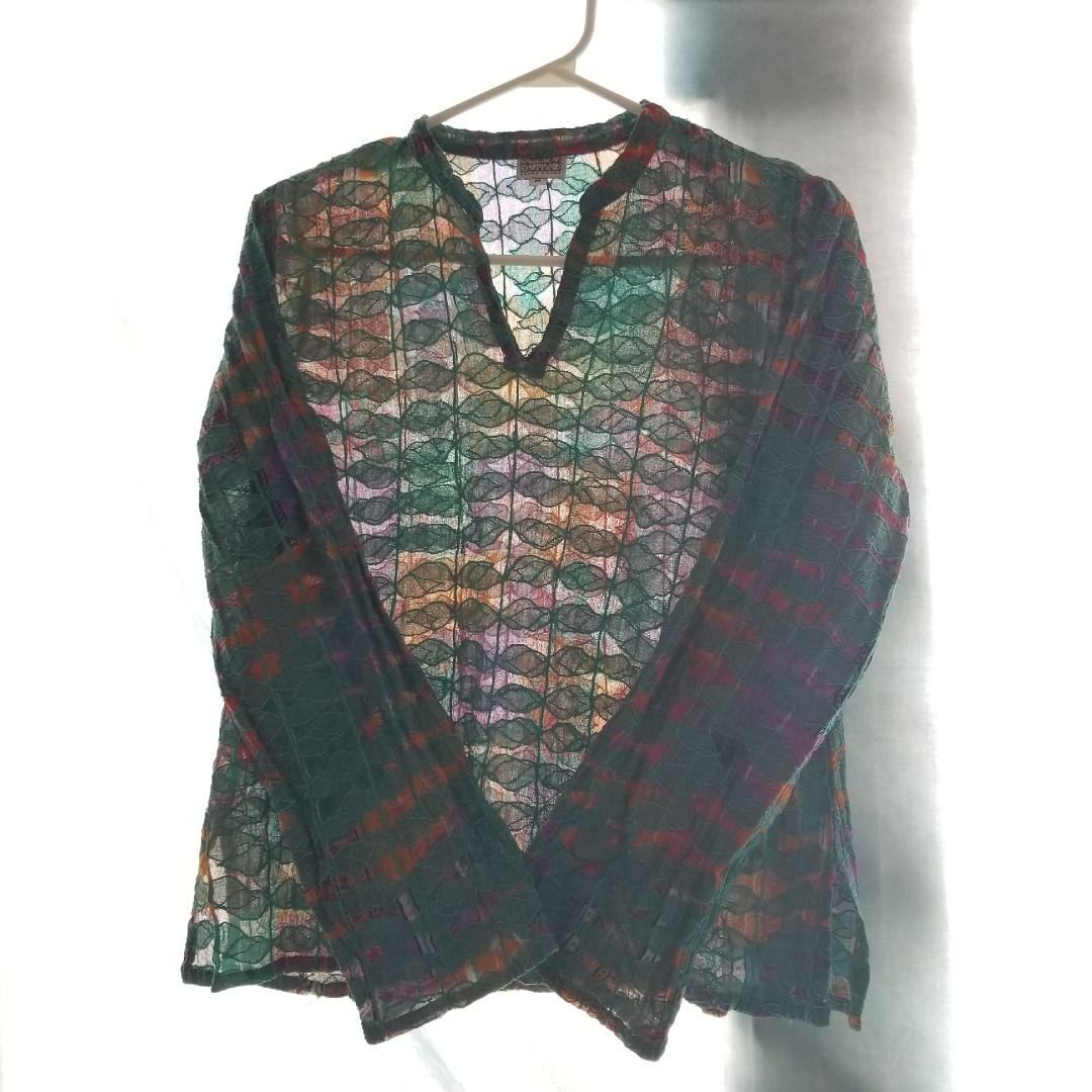 Colourful Patterns Textured Blouse