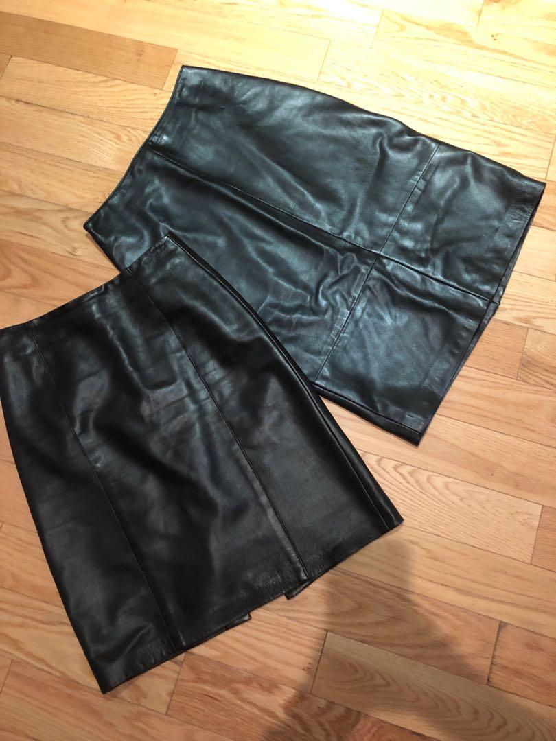 Danier leather skirts small