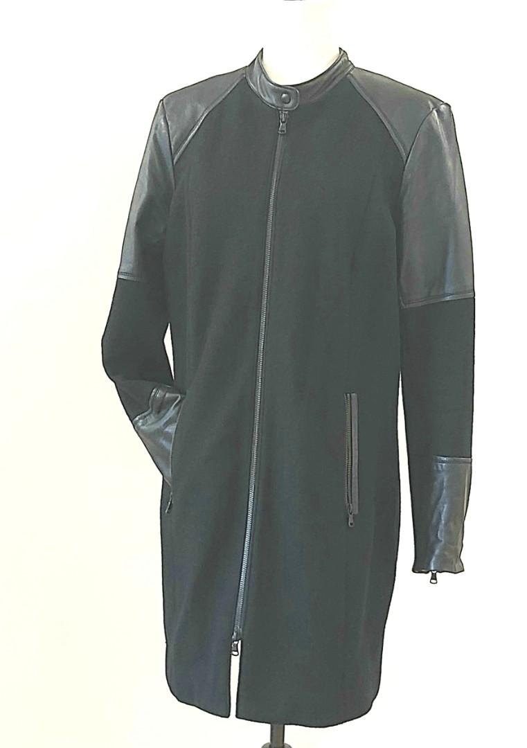 Dannier leather and wool coat