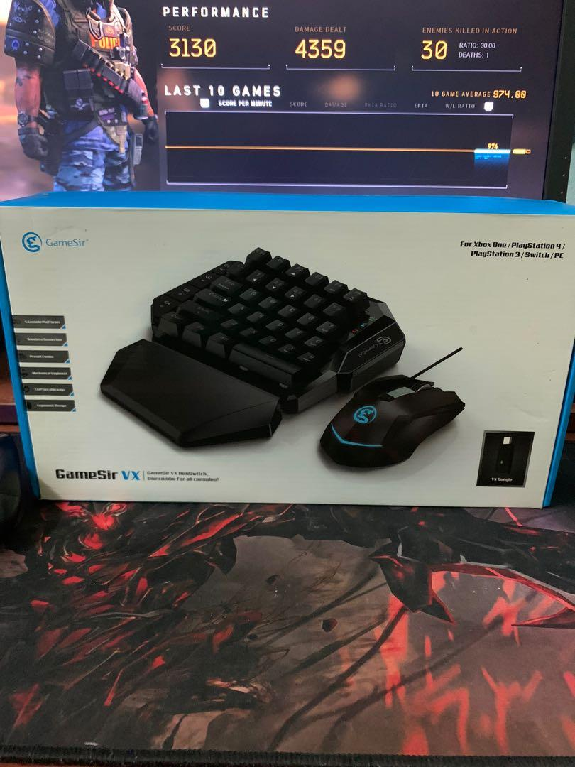 Gamesir Vx Aimswitch Keyboard Mouse Adapter For Ps4 Xbox One Nintendo Switch Ps3 Video Gaming Gaming Accessories On Carousell
