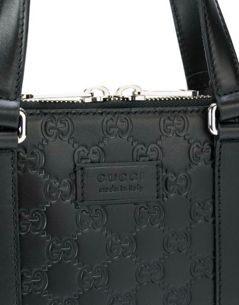 Gucci - GG Signature Leather (Heat Debossed) Laptop Bag