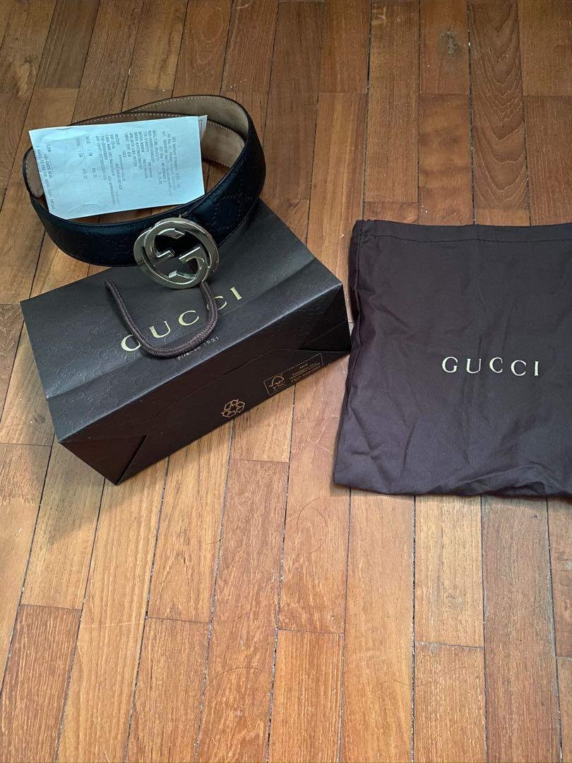 Gucci Belt with Golden Buckle
