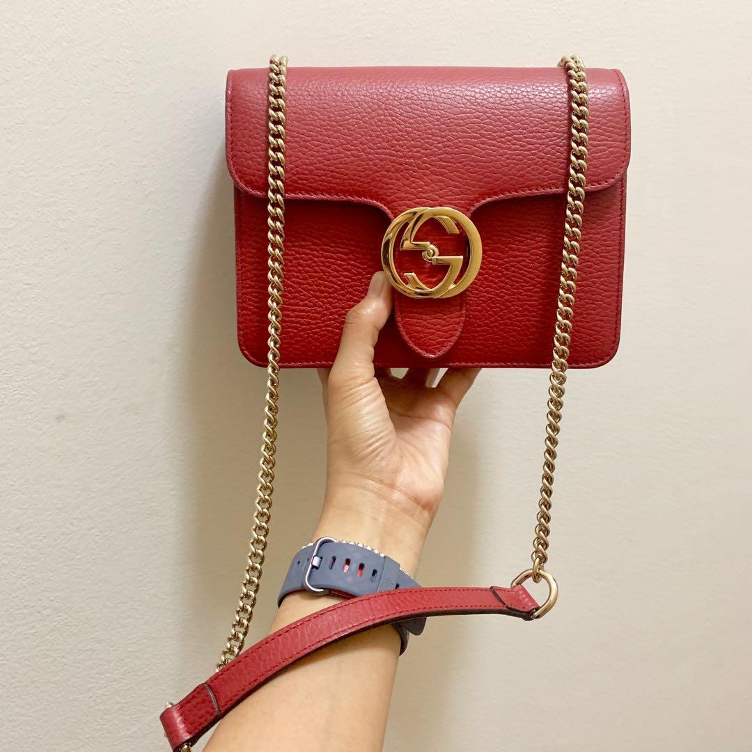 Gucci Leather Flap Bag