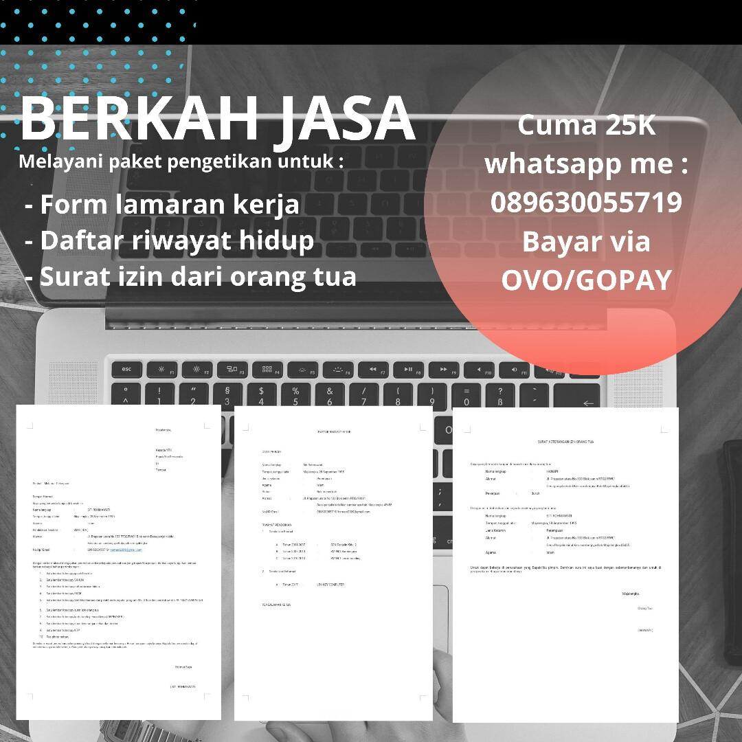 JASA DATA ENTRY FOR APPLY LAMARAN KERJA