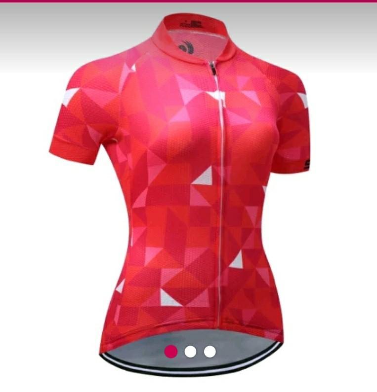 Jersey wanita aero merah