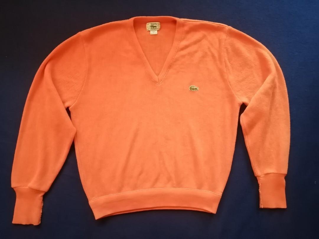 Ladies Lacoste Orange Sweater