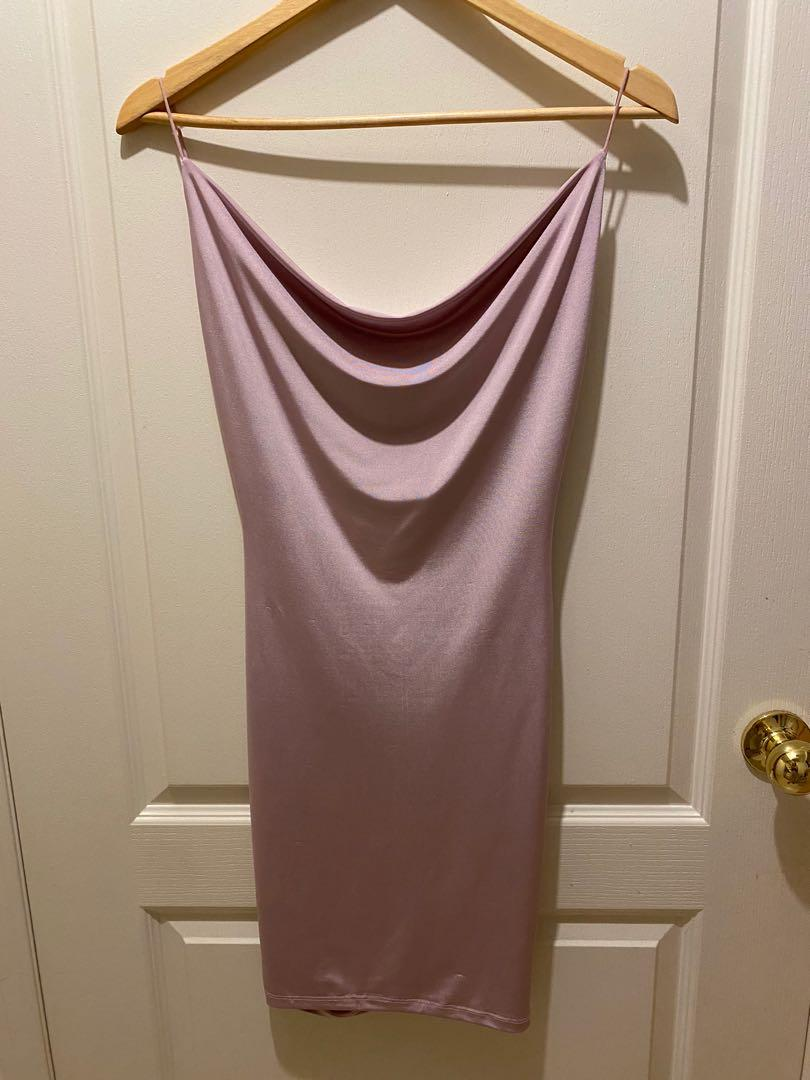 M for Mendocino Open back pink/purple dress Small