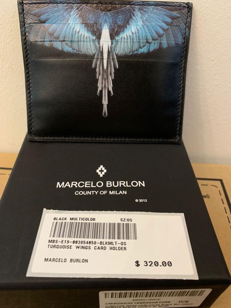 Marcelo Burlon Turqouse Wings Cardholder