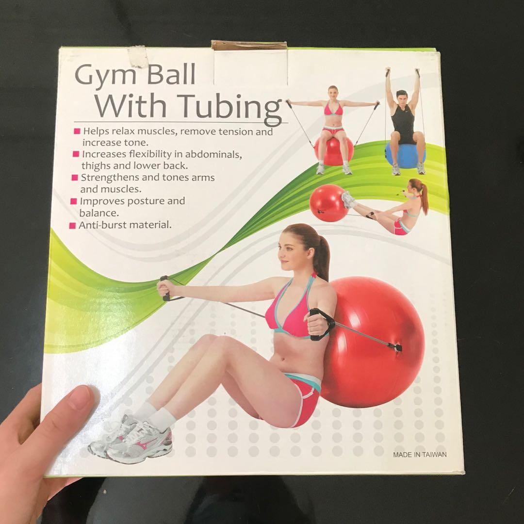 [NEW] SIKEN GYM BALL WITH TUBBING WORKOUT FITNESS YOGA PILATES BOLA YOGA