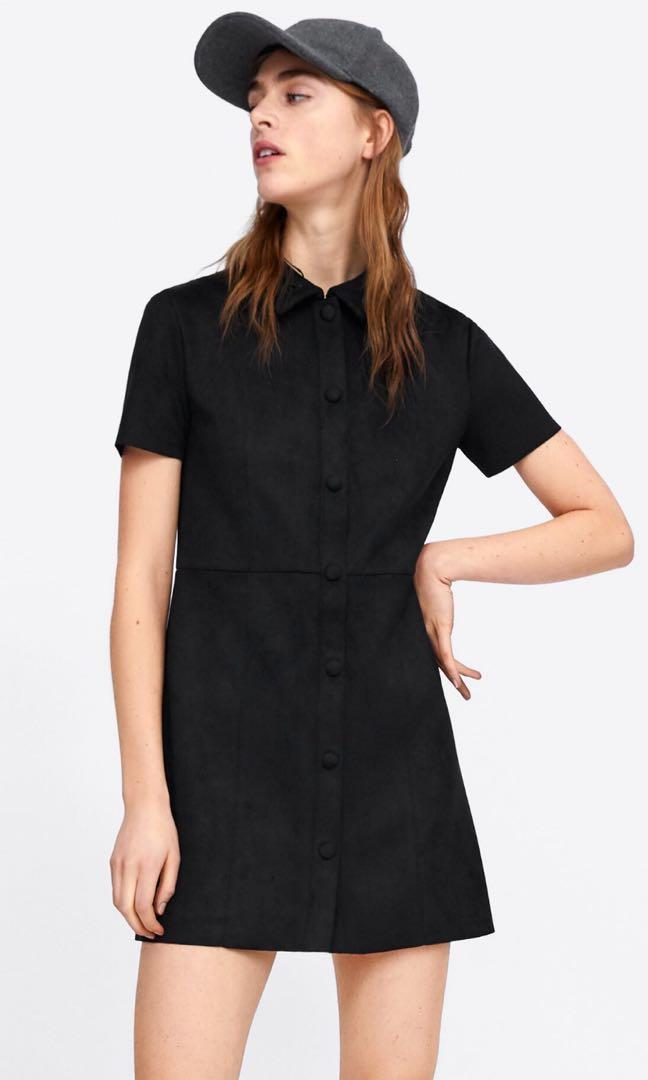 NWT Zara Velvet Black Dress (S)
