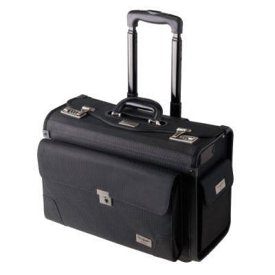 Pilot flight brief case with trolley