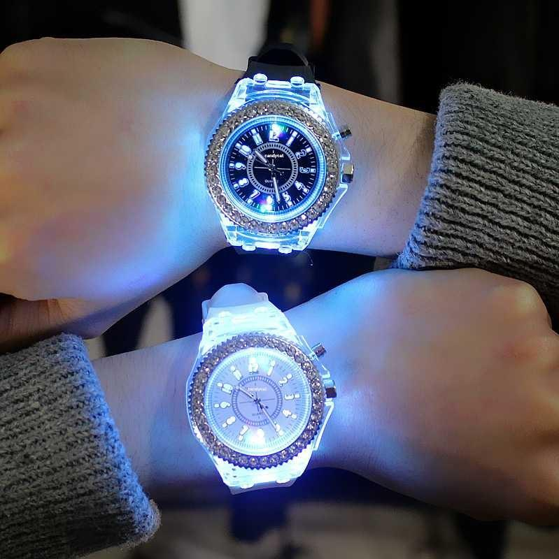 [PO] Luminous Rhinestone LED Korean Fashion Watch