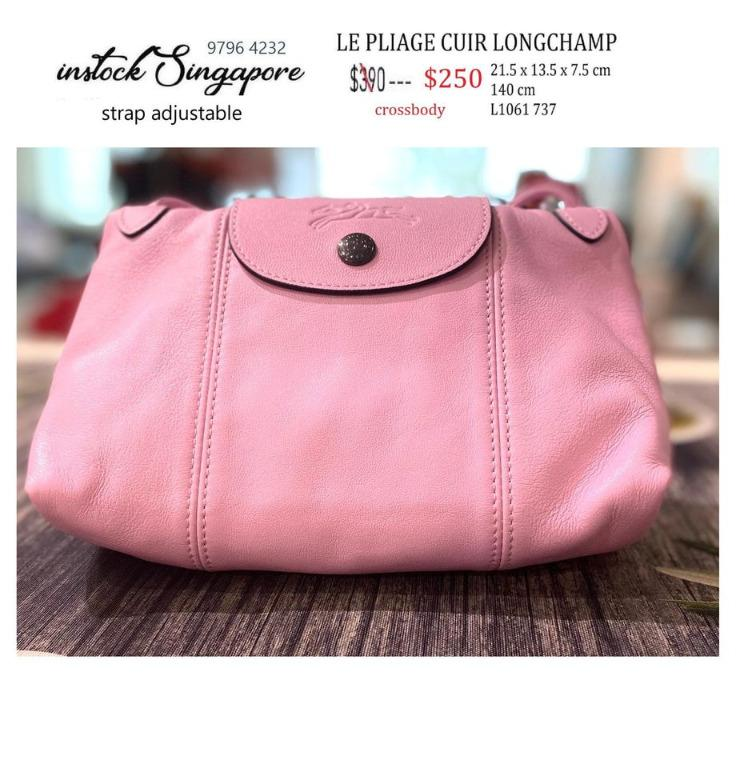 READY STOCK - 100% AUTHENTIC - NEW  Longchamp Le Pliage CUIR 1061 mini crossbody full leather