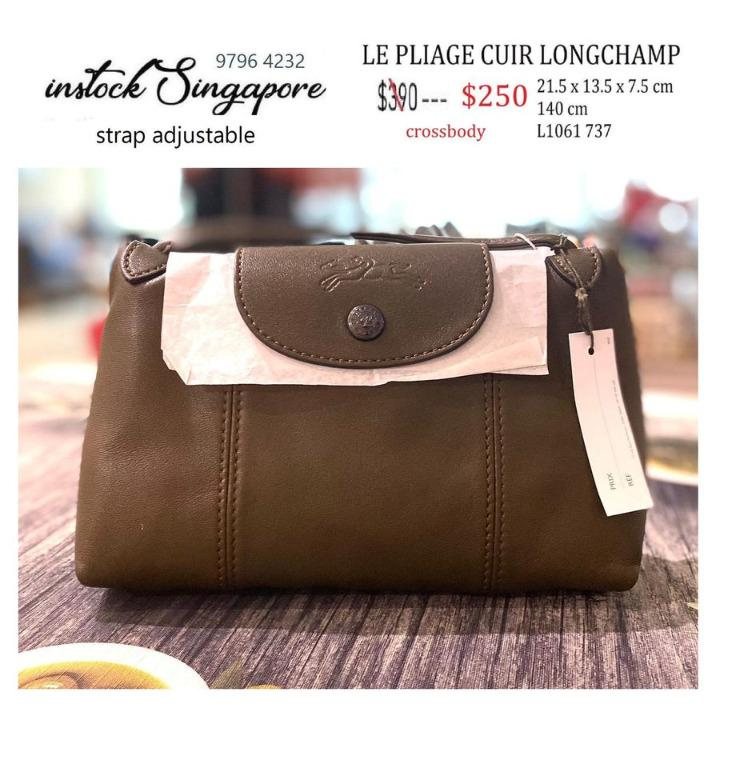 READY STOCK - 100% AUTHENTIC - NEW Longchamp Le Pliage CUIR 1061 mini crossbody full leather