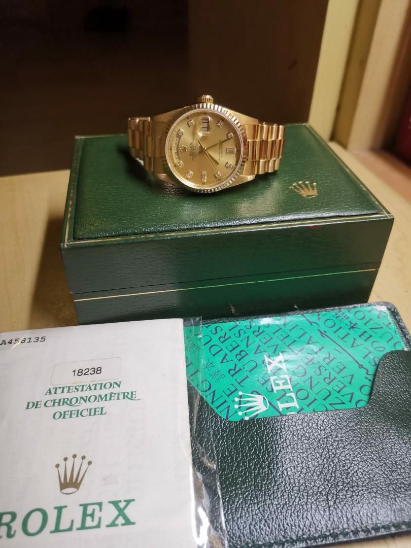 Rolex Day-Date 18238 Full Gold 18K Diamond