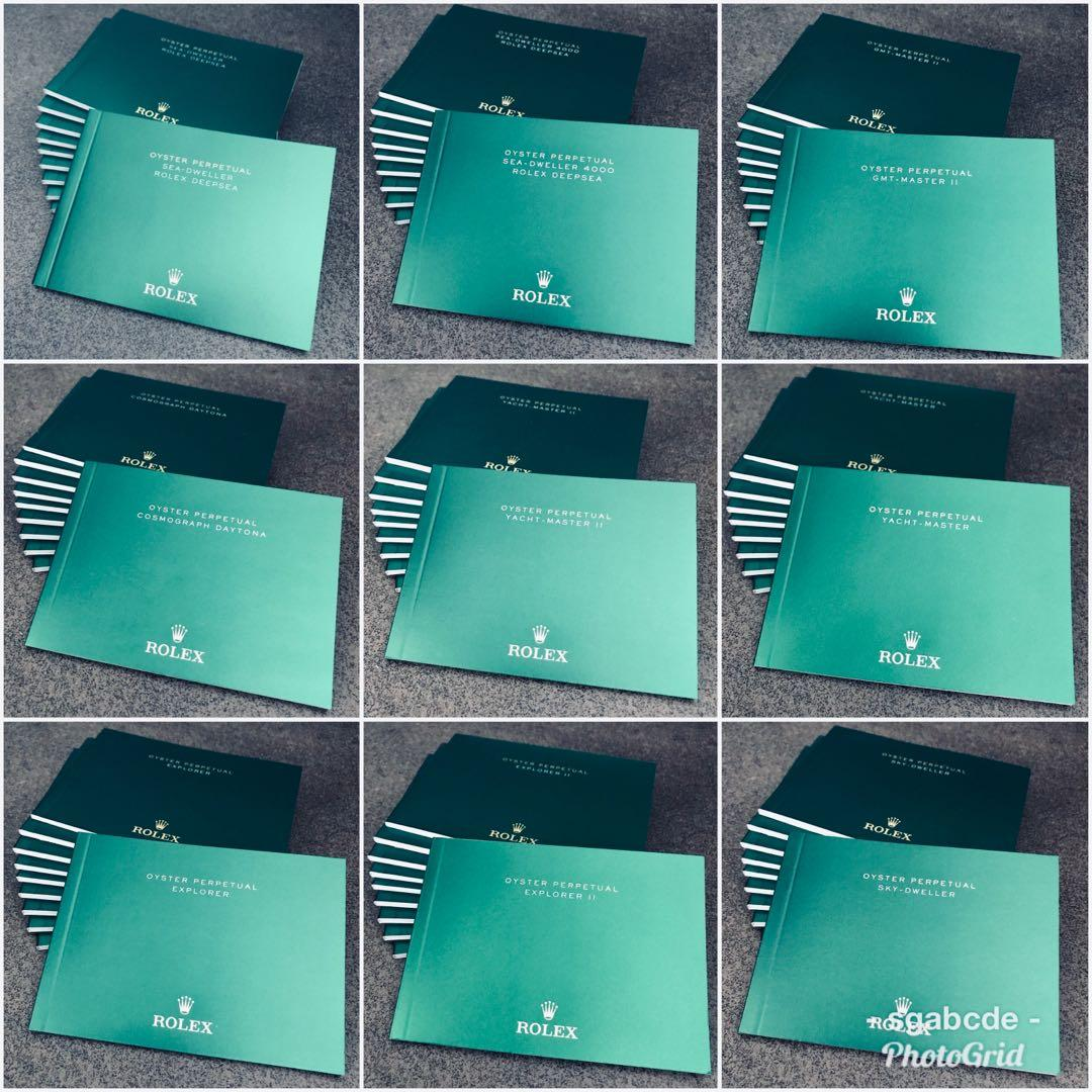 Rolex Manual Booklet for Air-King, Cellini, Datejust, Day-Date, Daytona, Explorer, GMT-Master, Milgauss, Sea-Dweller, Submariner, Sky-Dweller, Oyster Perpetual, Yacht-Master etc